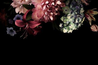 Fotomural Floral card. Vintage flowers.