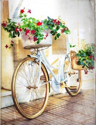 Fotomural floral moto - tarjeta de la vendimia