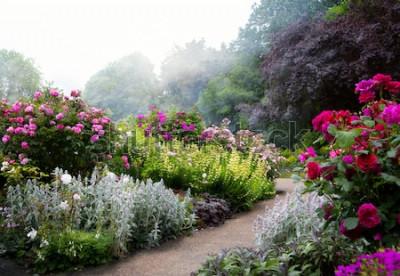 Fotomural Flores de arte en la mañana en un parque inglés