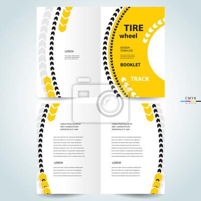 17649edbf8 Folleto diseño plantilla folleto neumático rueda pista fotomural ...