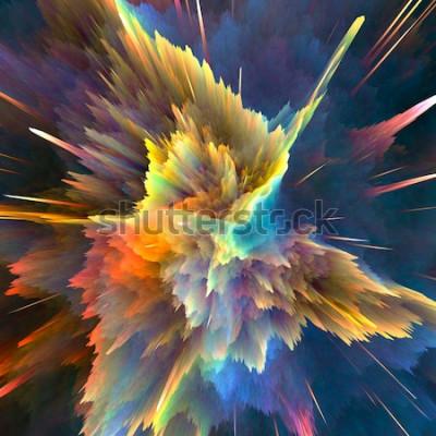 Fotomural Fondo abstracto colorido explosión. Primer plano, ilustración de alta resolución para su folleto, volante, diseños de pancartas y otros proyectos. Explosión efecto de iluminación. Ilustración de rende