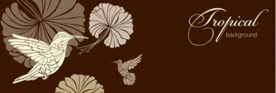 Fotomural Fondo abstracto con flores