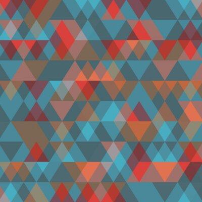Fotomural Fondo abstracto con triángulos. Ilustración del vector.