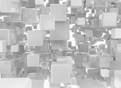Fotomural Fondo abstracto de cubos metálicos