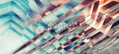 Fotomural Fondo abstracto monocromático, patrón de rayas intersectadas caótico