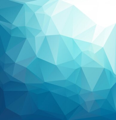 Fotomural Fondo azul del mosaico poligonal, plantillas creativas del diseño
