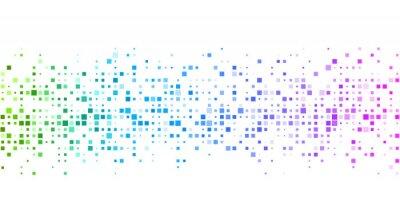 Fotomural Fondo blanco con patrón geométrico de colores.
