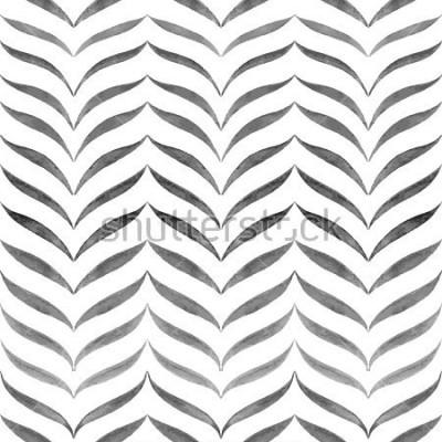 Fotomural Fondo blanco negro abstracto. Modelo dibujado mano mano del vector.