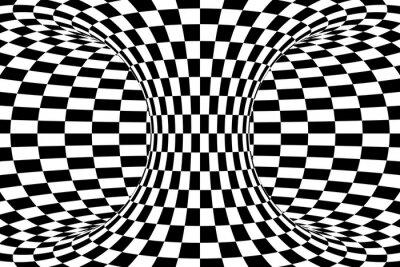 Fotomural Fondo blanco y negro del extracto del toro de Checkered