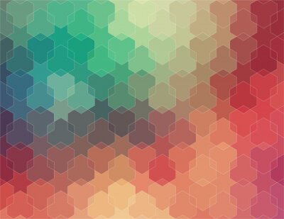Fotomural Fondo colorido abstracto y geométrico 2D