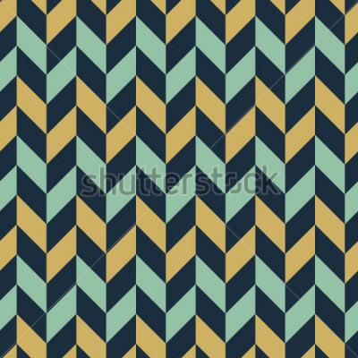 Fotomural Fondo colorido inconsútil del modelo del galón / de la raspa de arenque del zigzag.
