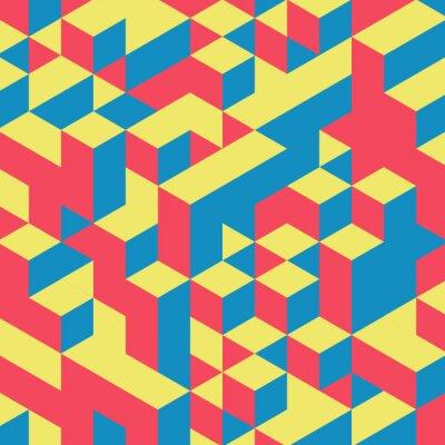 Fotomural Fondo de colores 3d geométrico abstracto.
