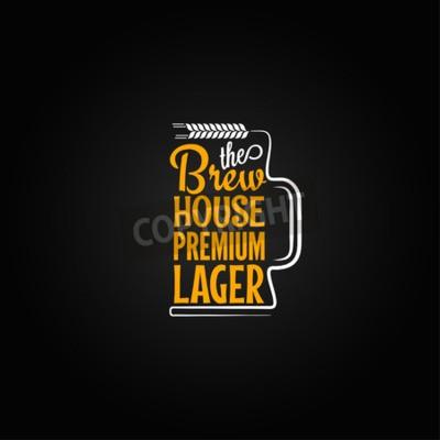 Fotomural Fondo de diseño de la taza de cerveza