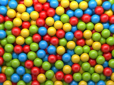 Fotomural Fondo de las bolas de color mixto