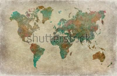 Fotomural Fondo de mapa del mundo vintage