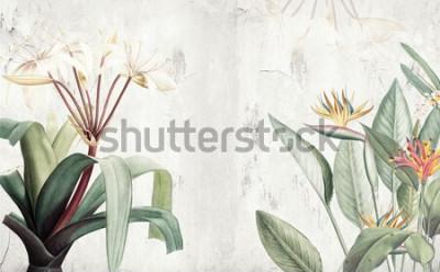 Fotomural Fondo de pantalla de hojas tropicales verdes de Amazon