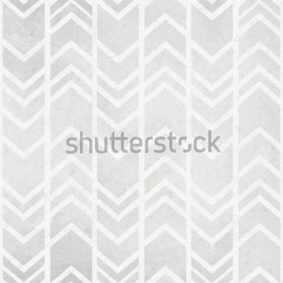 Fotomural Fondo de papel de acuarela transparente con patrón de acuarela gris ikat tribal