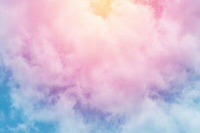 Fotomural Fondo de sol y nube con un pastel de color