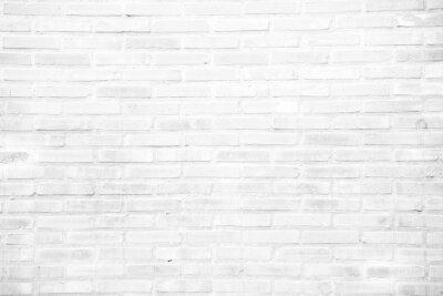 Fotomural Fondo de textura de pared de ladrillo de grunge blanco