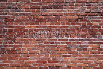 Fotomural Fondo de textura de pared de ladrillo rojo viejo