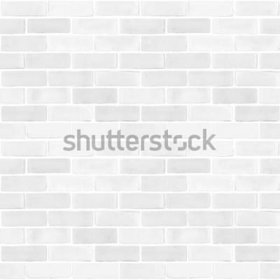 Fotomural Fondo de textura de patrón de color gris blanco de pared de ladrillo transparente
