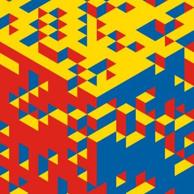 Fotomural Fondo geométrico abstracto 3d. Mosaico. Ilustración del vector.