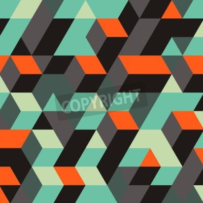 Fotomural Fondo Geométrico Abstracto 3d. Puede ser utilizado para el papel pintado, fondo de la página web, banners web.