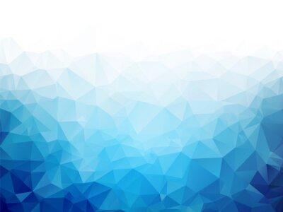 Fotomural Fondo geométrico azul de la textura del hielo