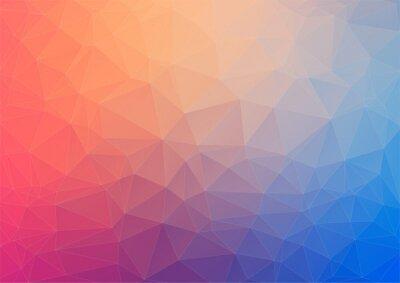 Fotomural Fondo geométrico colorido con triángulos