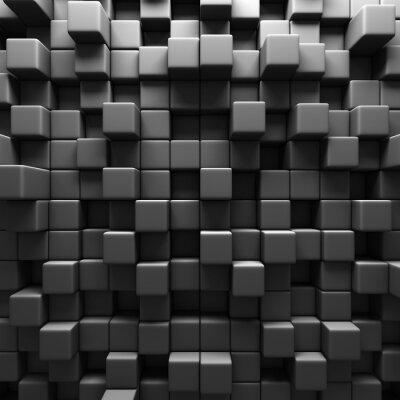 Fotomural Fondo Gris Oscuro Bloques Cubo Muro