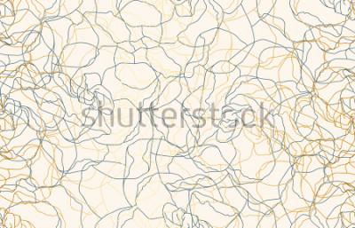 Fotomural Fondo inconsútil imprimible del modelo de la repetición del doodle del vintage. Fondo de pantalla, ilustración rasterizada en super alta resolución.
