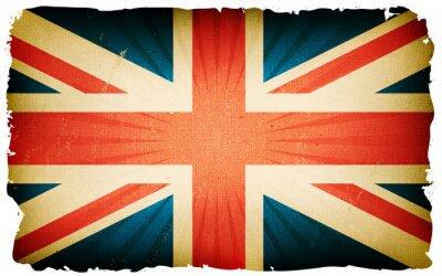 Fotomural Fondo inglés del cartel de la bandera del vintage
