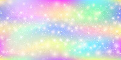 Fotomural Fondo mágico holográfico con destellos de hadas, estrellas y desenfoques.