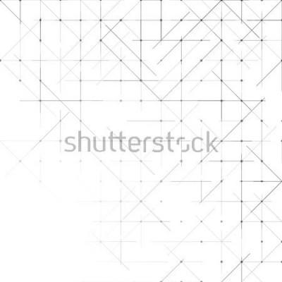 Fotomural Fondo minimalista geométrico simple. Patrón de puntos de triángulos. Ilustración vectorial