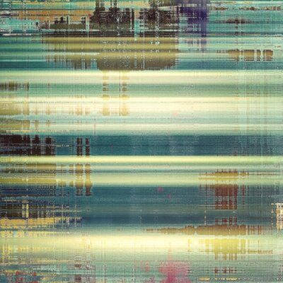 Fotomural Fondo o textura abstracta. Con diferentes patrones de color: amarillo (beige); marrón; blanco; azul; verde
