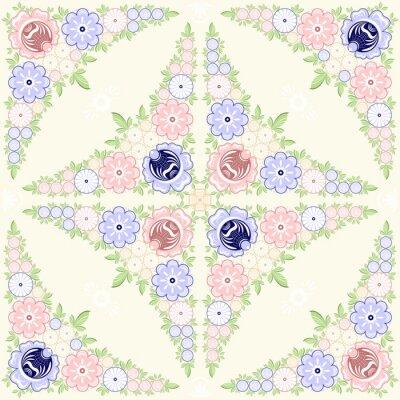Fotomural Fondo ornamento floral. Pintura de los gorodets. Arte popular tradicional ruso. Ilustración vectorial 10 EPS