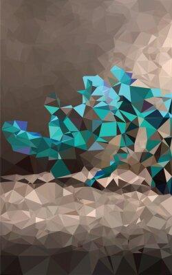 Fotomural Fondo poligonal colorido