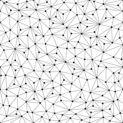 Fotomural Fondo poligonal, sin patrón, líneas y círculos