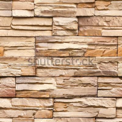 Fotomural Fondo y textura de la pared de piedra sin fisuras