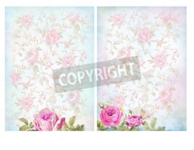 Fondos shabby chic con rosas. en colores pastel floral fondo