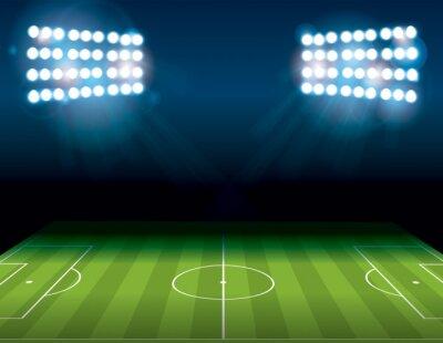Fotomural Football American Soccer Field Illuminated Illustration
