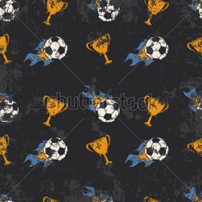 Fotomural Football pattern