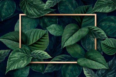 Fotomural Forest leaf frame