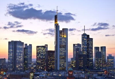Fotomural Frankfurt al atardecer