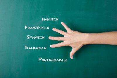 Fotomural Fremdsprachen
