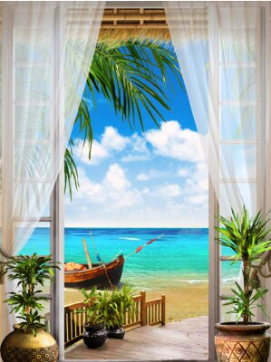 Fotomural Fresco digital. Tropical view