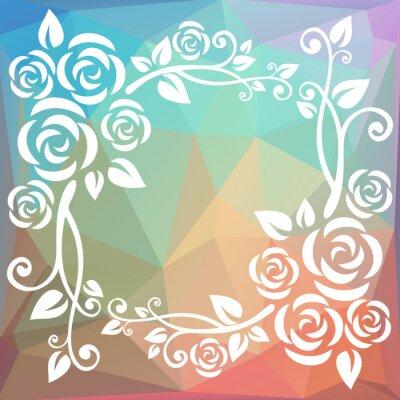 Fotomural Frontera poligonal abstracta