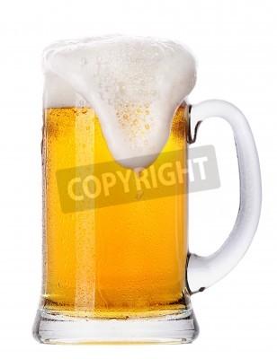 Fotomural Frosty vaso de cerveza ligera conjunto aislado en un fondo blanco