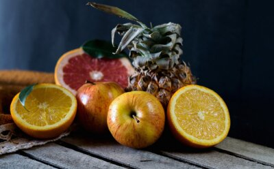 Fotomural Frutas en la mesa