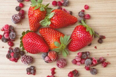 Fotomural Frutas Rojas Saludables